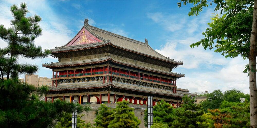 Torre del Tambor, uno de loslugares de Xian más bellos