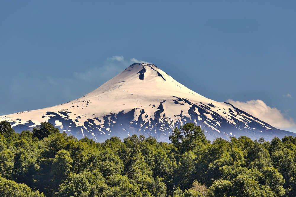 Volacán Villarrica, uno de los lugares de nieve en Latinoamérica