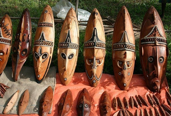 Artesanías típicas de Papúa Nueva Guinea