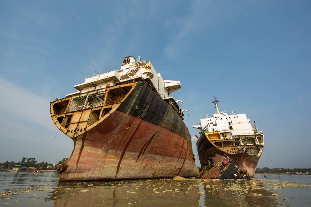 Barcos desguazados en Chittagong