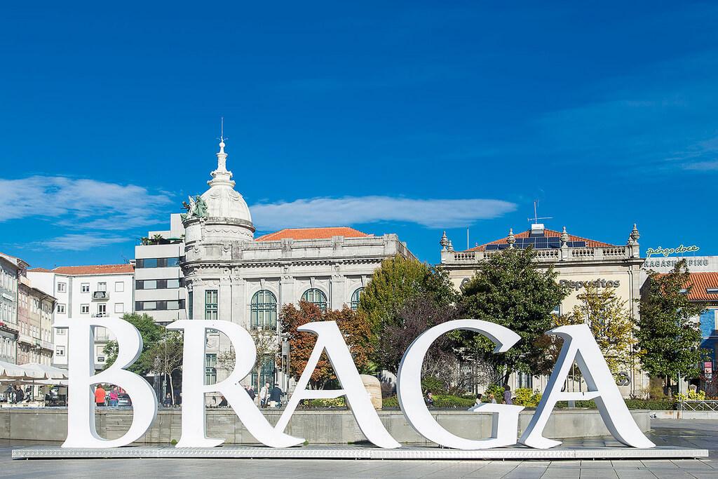 Cartel de la ciudad de Braga