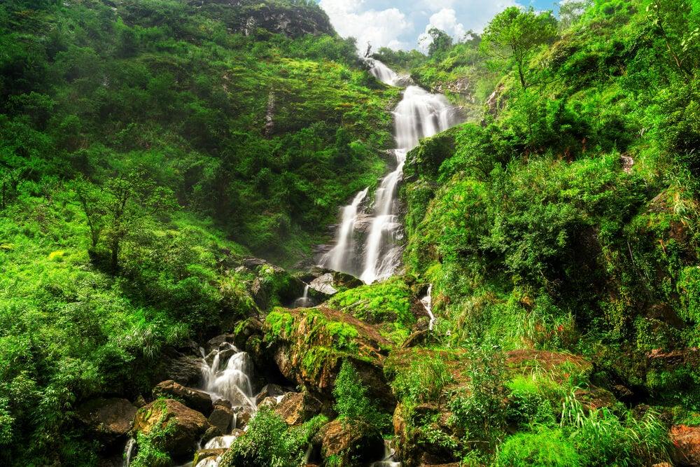 Cascada de Thac Bac en Sapa