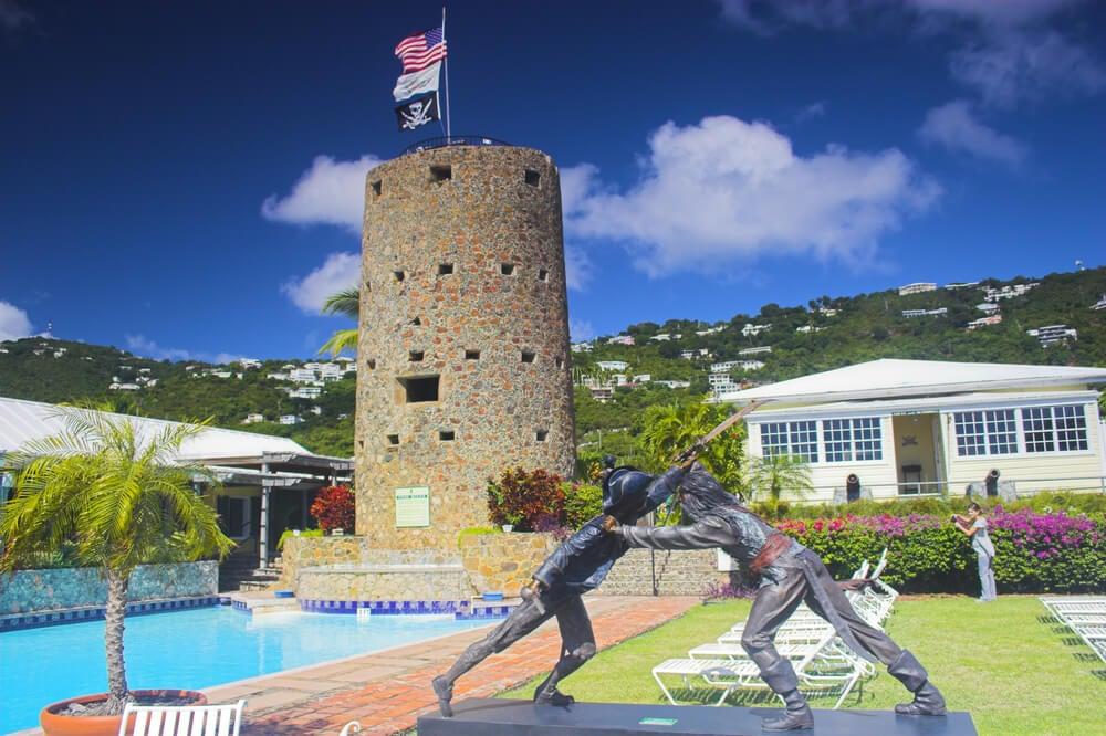 El castillo de Barbanegra en las Islas Vírgenes