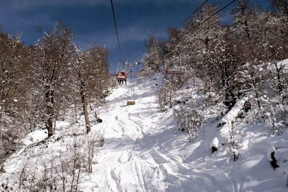 Vista de Cerro Bayo nevado