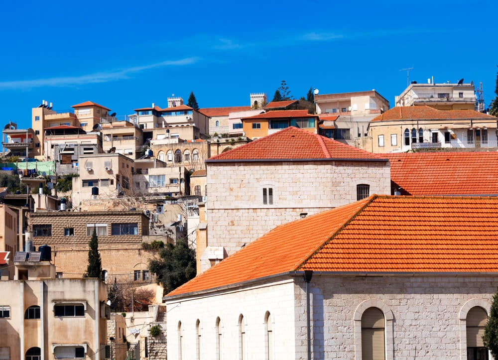 Vista de la Ciudad Vieja de Nazaret