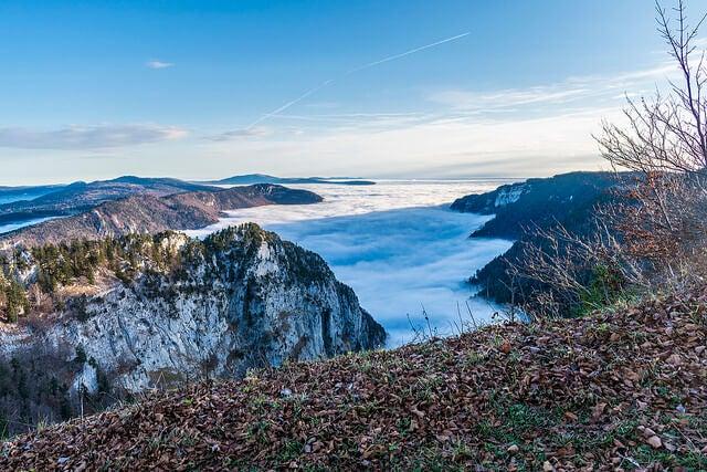Entorno de Creus du Van cubierto de nubes
