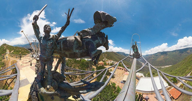 Escultura en el Parque Nacional del Chicamocha