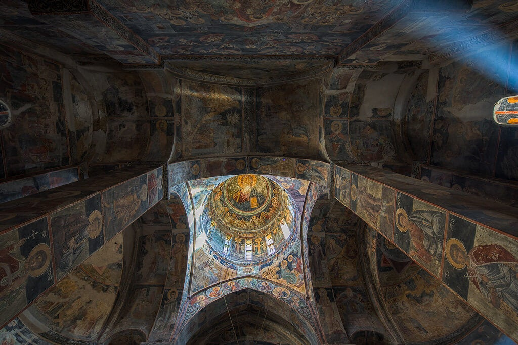 Frescos del monasterio de Novo Hopovo en Fruska Gora