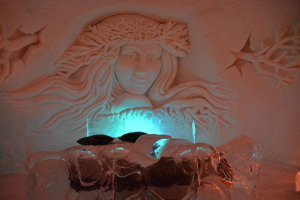 Duerme en un hotel de hielo en la Laponia noruega