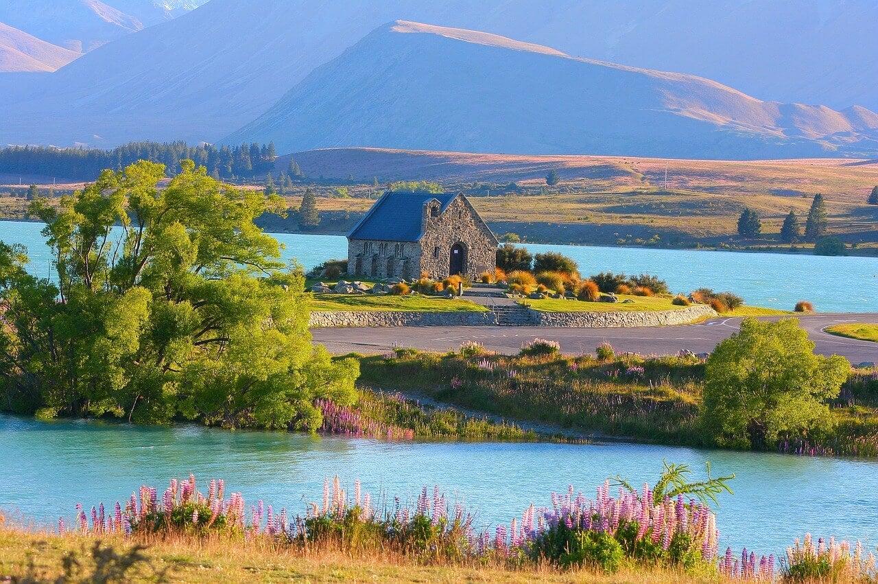 Iglesia del Buen Pastor en el Lago Tekapo