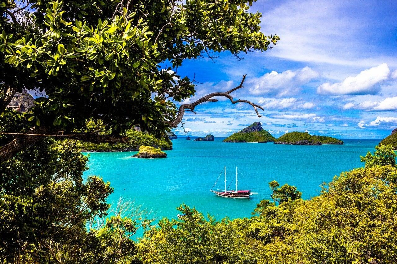 Vista de las islas de Ang Thong