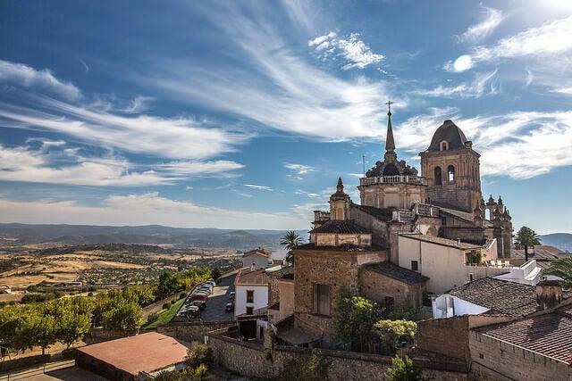 Jerez de los Caballeros en la provincia de Badajoz en Extremadura