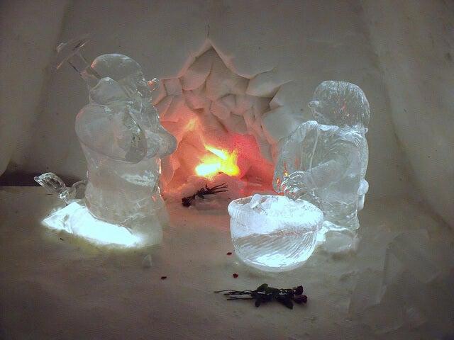 Esculturas en el Kirkenes Snowhotel