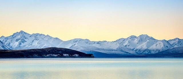 Lago Tekapo en invierno