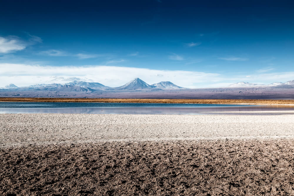 Laguna Céjar en el norte de Chile