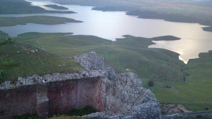 Vista desde el castillo templario de Lares