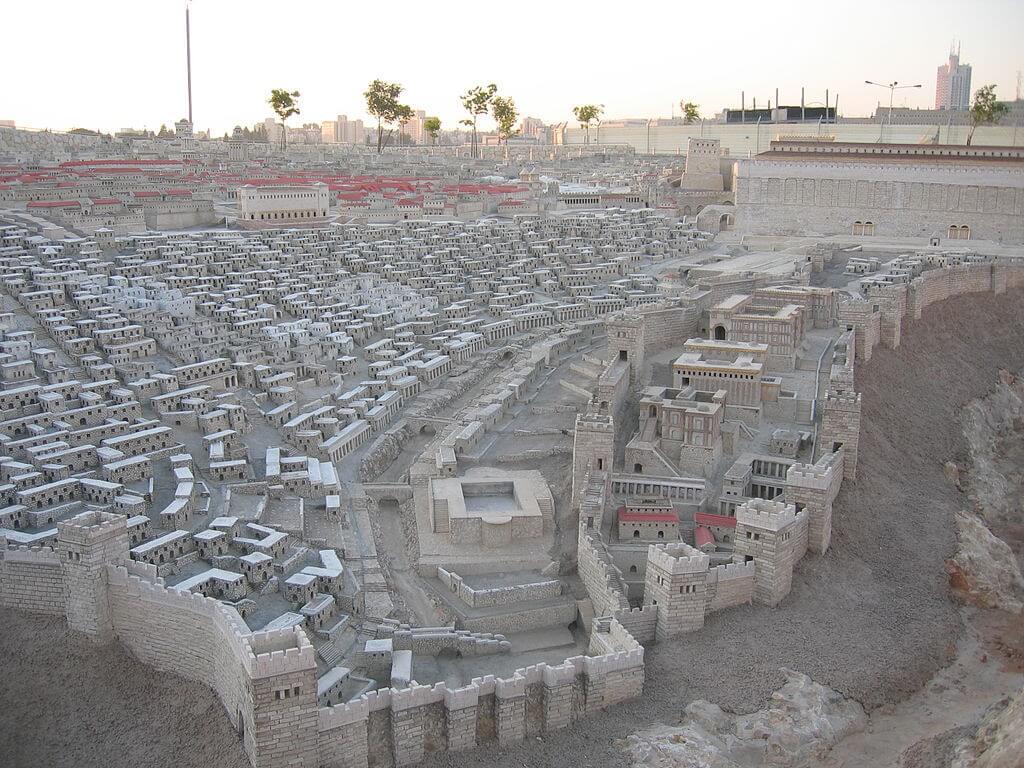 Maqueta del Templo de Jerusalén en el Museo de Israel