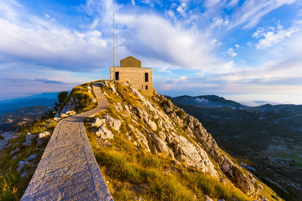 El mausoleo de Njegos en Lovcen, Montenegro