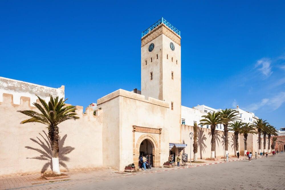 Entrada a la medinna de Essaouira en Marruecos