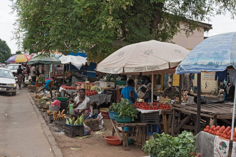 Mercado en Livingstone, Zambia