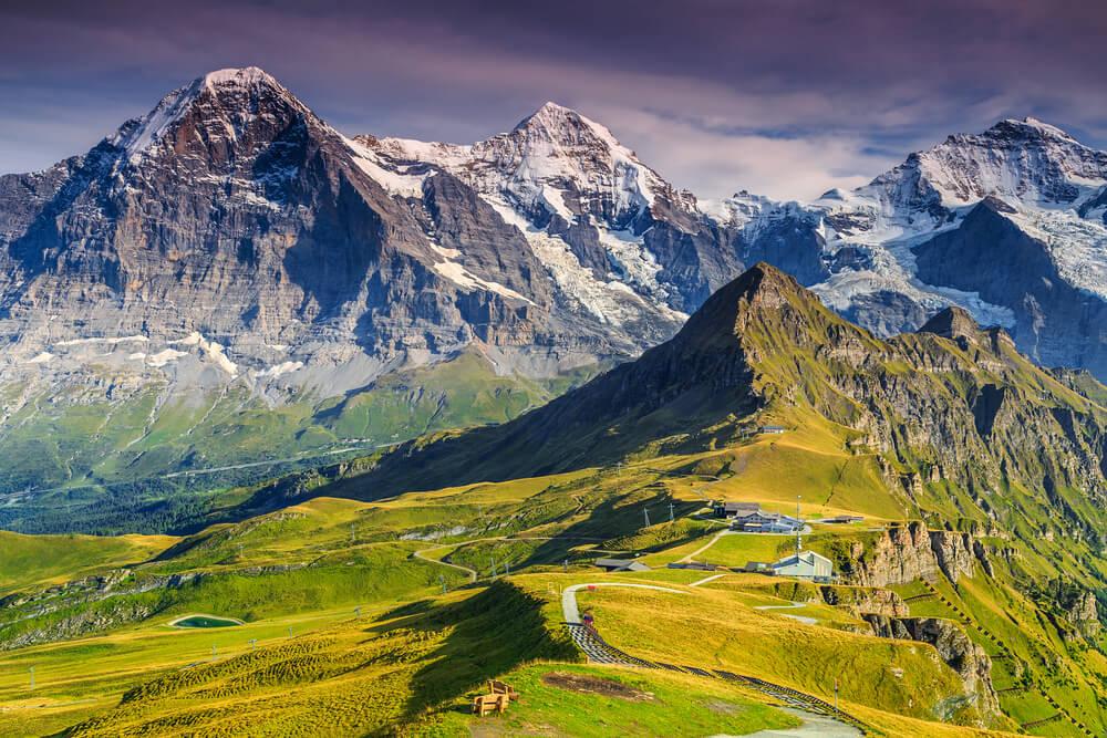 Picos Monch, Jungfrau y Eiger