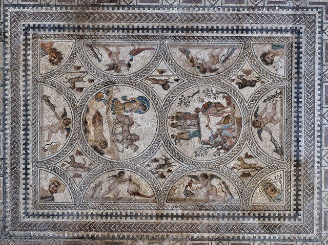 Mosaico del yacimiento de Cástulo