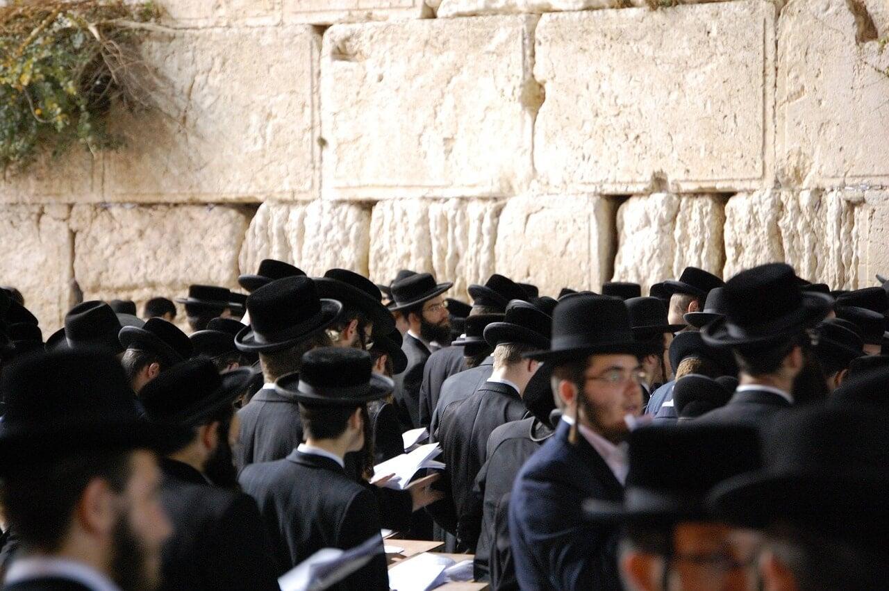 Muro de las Lamentaciones durante el sabbat en Israel