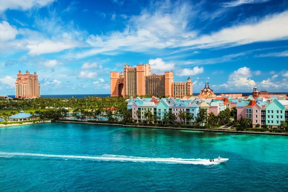Vista de Nassau en las Bahamas
