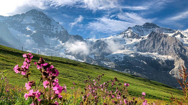 Paisaje del pico Eiger