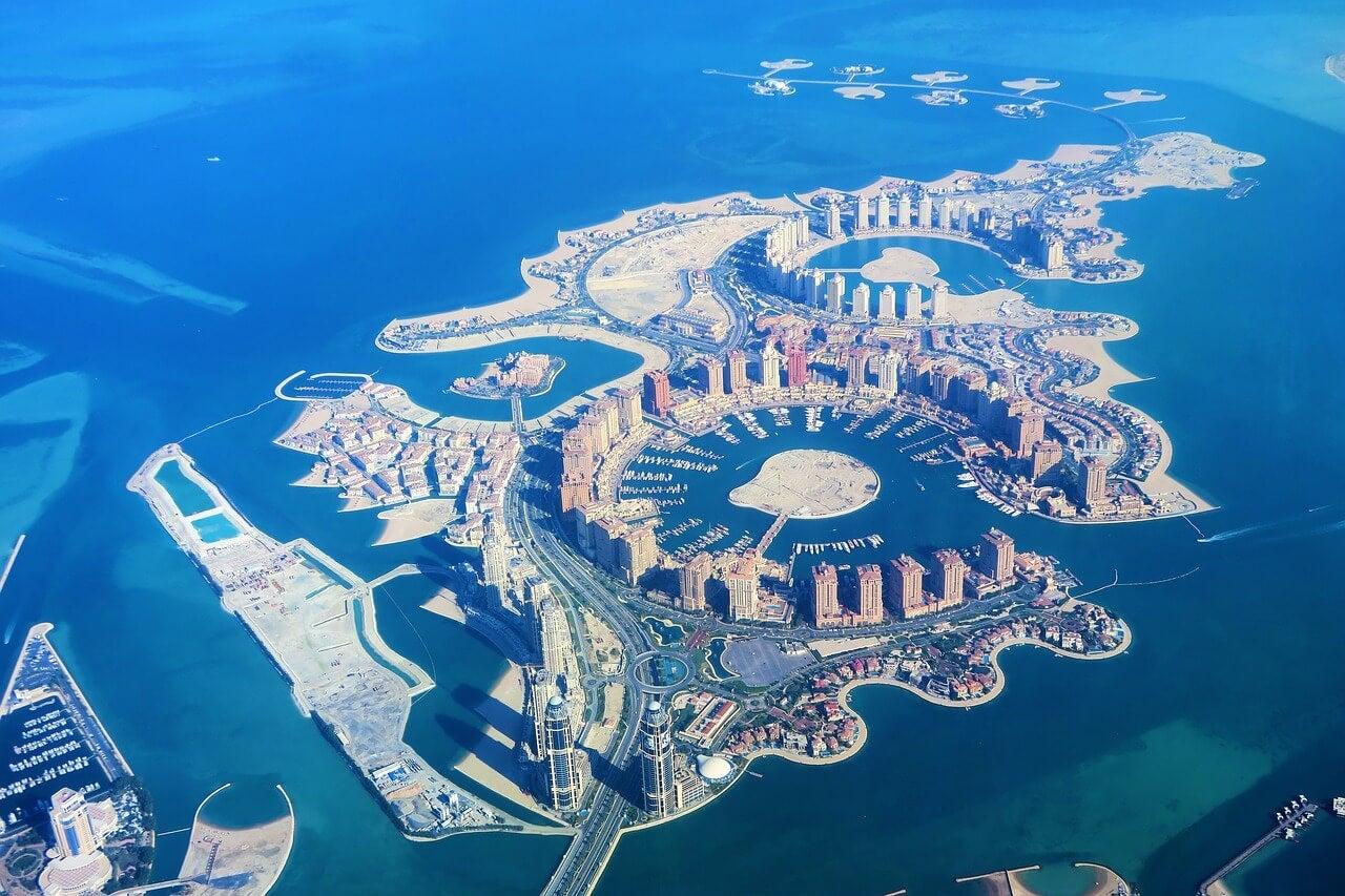 Vista de la Perla en Doha