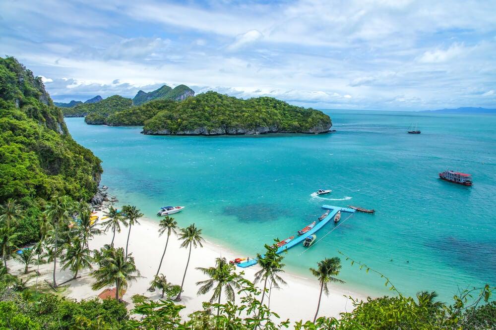 Playa en las islas Ang Thong