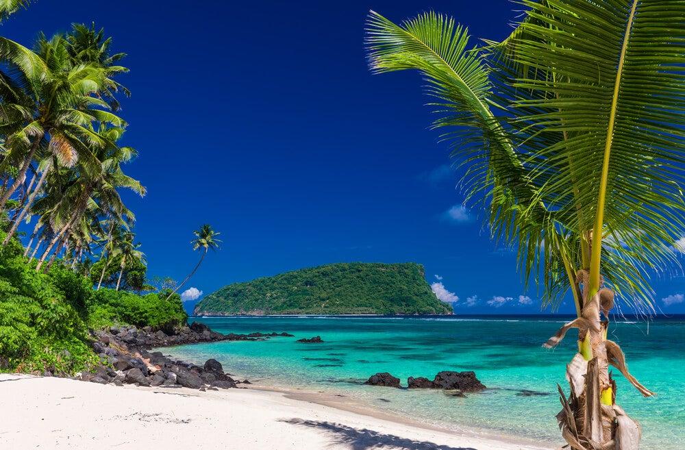 Playa Lalomanu en Upolu, Samoa