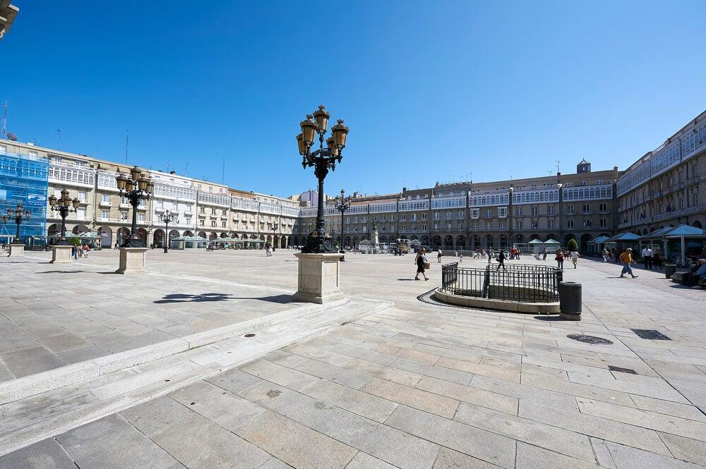 Plaza de María Pita en la ciudad de A Coruña