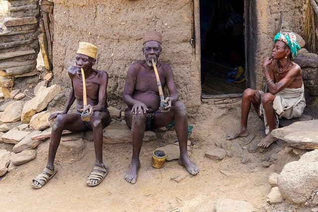 Pueblo taneka en Benin