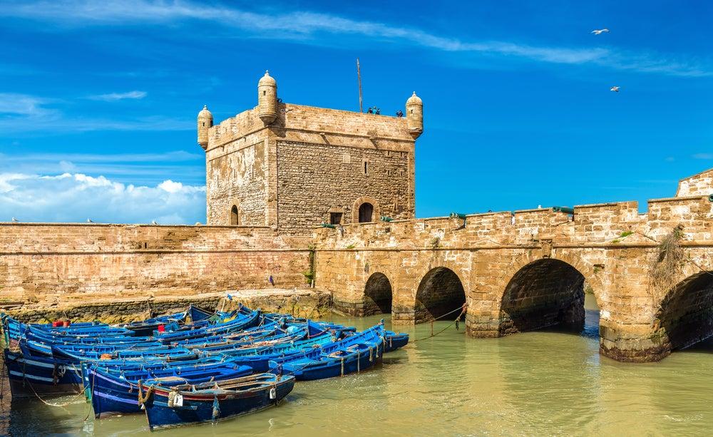 Puerto de Essaouira en Marruecos
