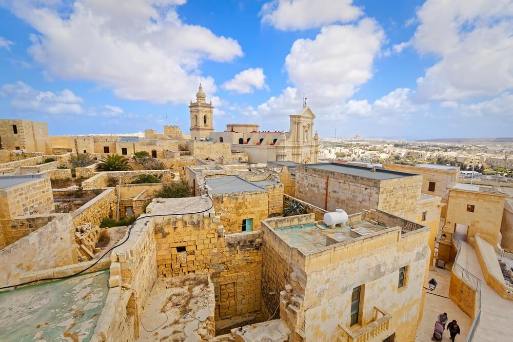 Vista de Rabat en Malta