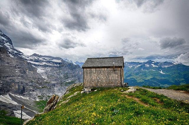 Vista del sendero del Eiger