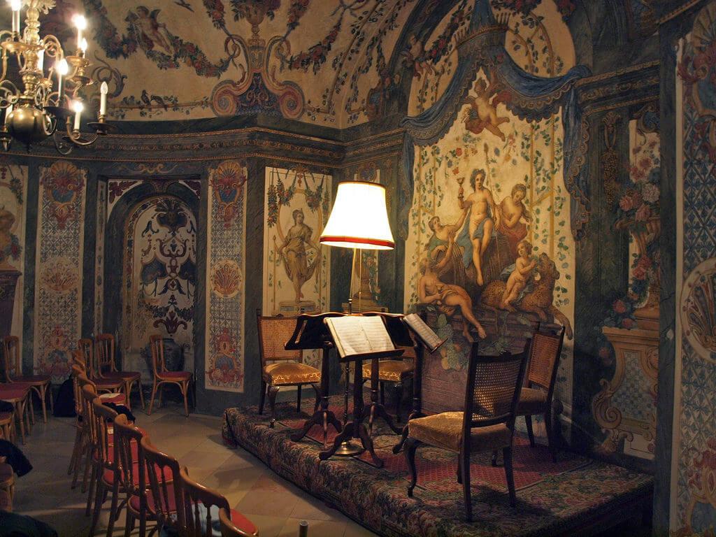 Sala de música de la Cada Museo de Mozart en Viena