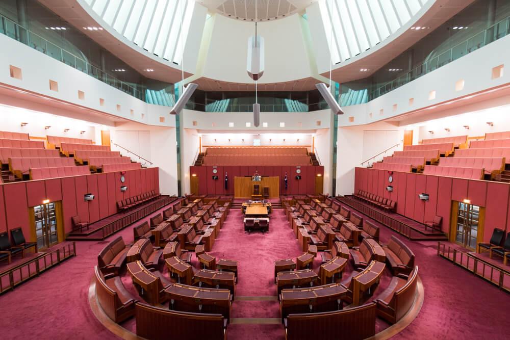 Cámara del Senado de Canberra