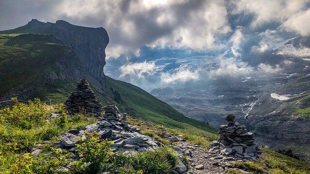 Vista desde el sendero del Eiger
