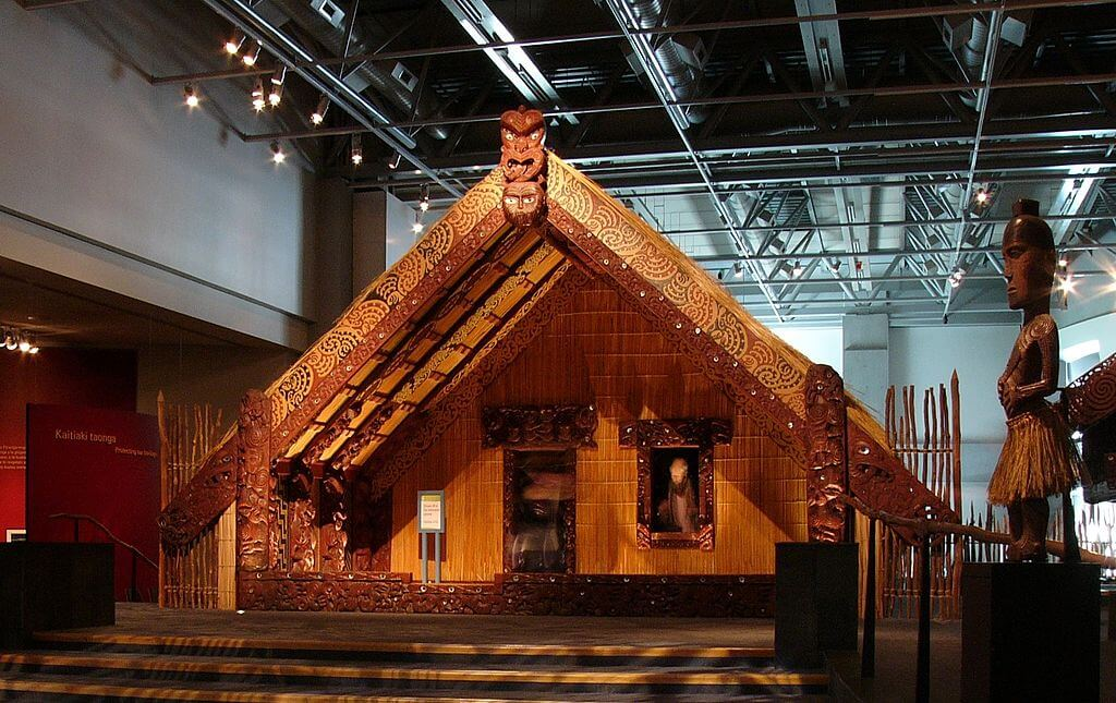 Interior del museo Te Papa Tongarewa en Wellington