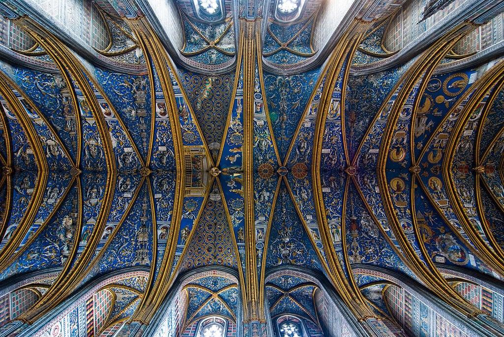 Frescos del techo de la catedral de Albi