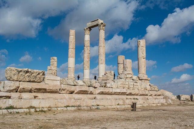 Templo de Hércules en la ciudadela de Amán