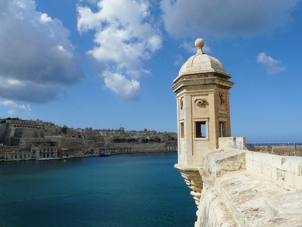 Conoce el torreón de vigía de Senglea en Malta