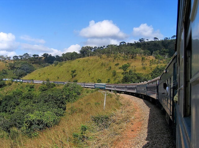 Tren en Zambia