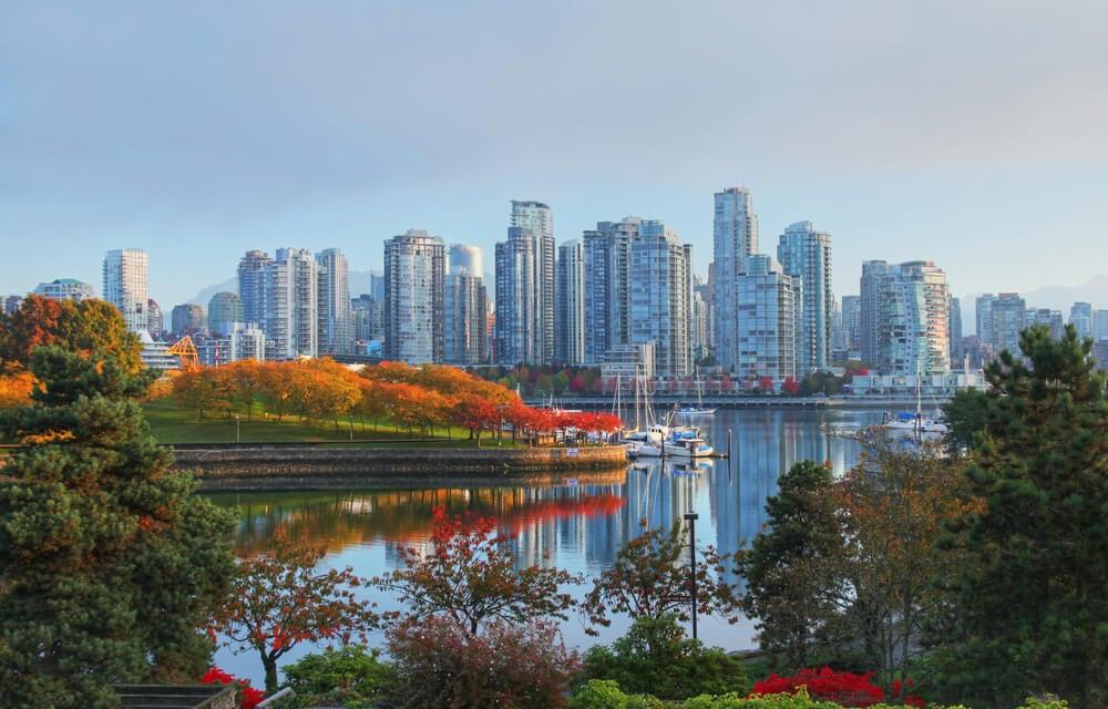 Vista de Vancouver en la Columbia Británica