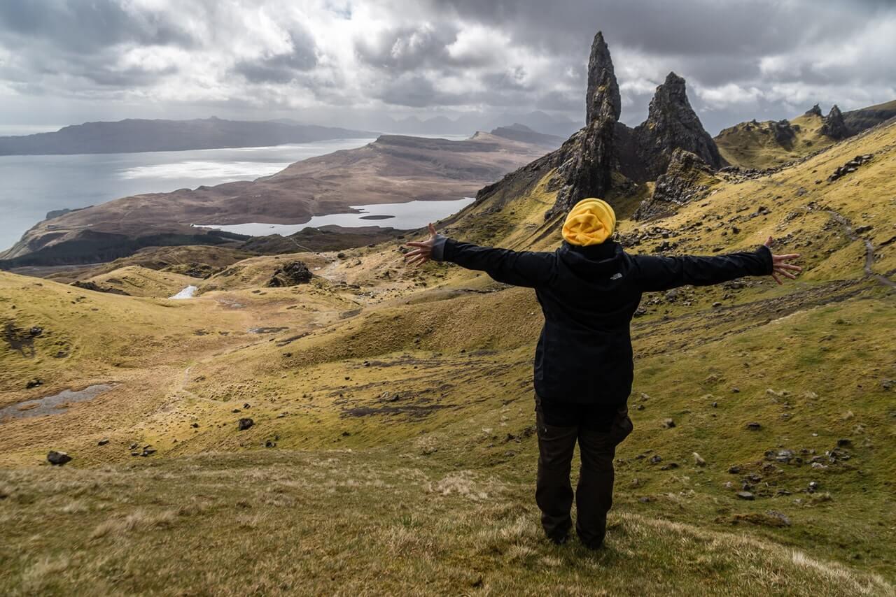 Viajera feliz en Escocia