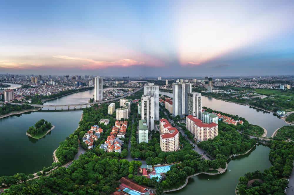 Vista de Hanoi en Vietnam