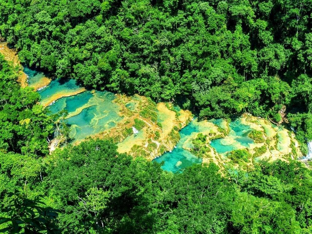 Vista aérea de Semuc Champey
