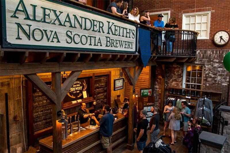 La cervecería Alexander Keith, en Halifax.